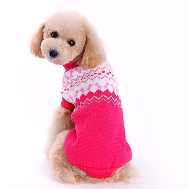 [$8.39] Dog Sweater Bowknot Fashion Winter Dog Clothes Yellow Red Dark Green Costume Woolen XS S M L XL