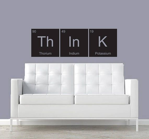 Think Customizable Wall Decal Periodic Table Elements