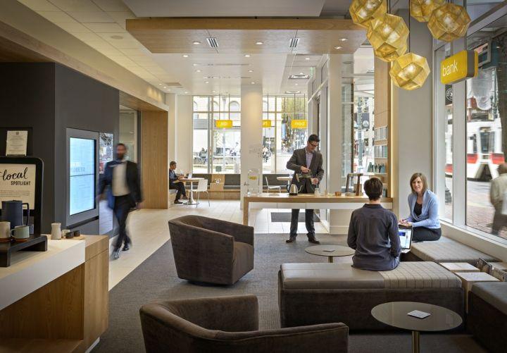 Umpqua Bank Flagship By Ditroen Portland Oregon Retail Design Blog Bank Interior Design Bank Design Interior Design Layout