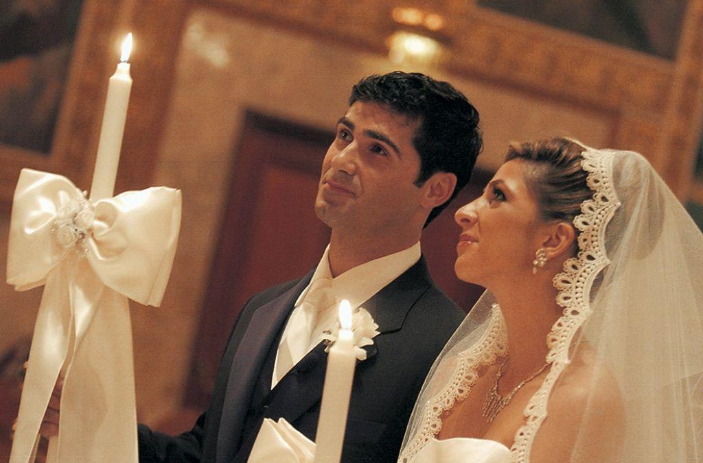 Fall Greek Orthodox Wedding Ceremony In Los Angeles California