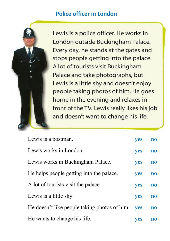 Reading Police Officer In London 2 Interactive Worksheet Reading Comprehension Esl Reading Comprehension Esl Reading [ 1413 x 1000 Pixel ]