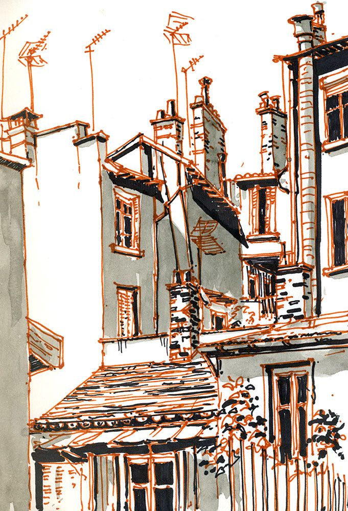 Jardinet Rue D Ivry Lyon France In 2020 Urban Sketching