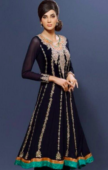Black anarkali dress...fit for any wedding occasion !