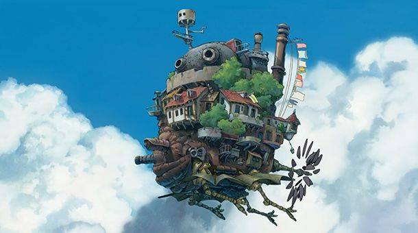 Le Chateau Ambulant Volant Le Chateau Ambulant Hayao Miyazaki Fond D Ecran Large