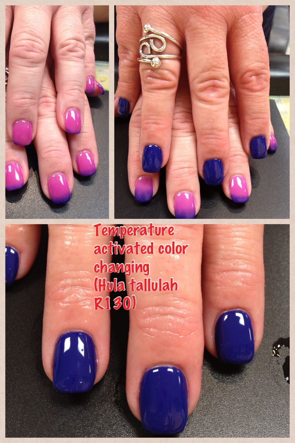 Manicure With Gel Ii Colour Mood Changing Nails How To Do Nails Hot Nails