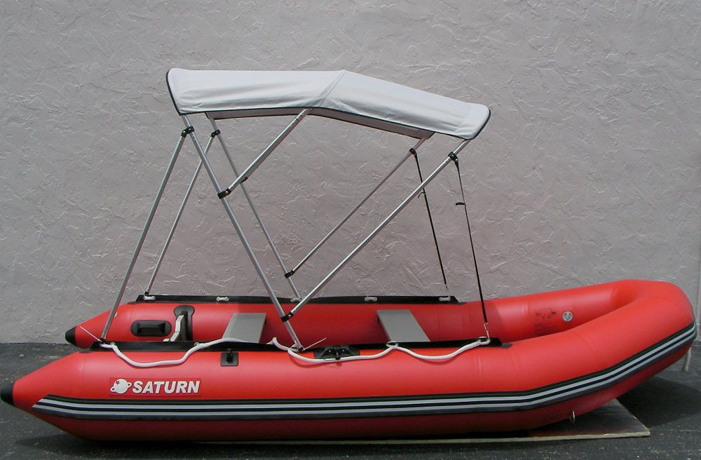 4-Bow Bimini Top | Portable Boats | Sun shade canopy, Boat