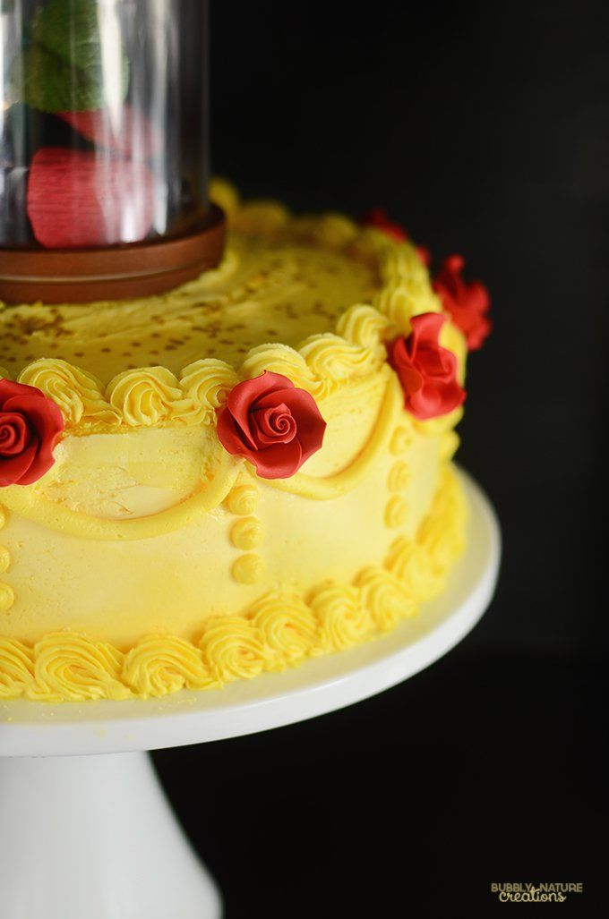 Beauty And The Beast Enchanted Rose Cake
