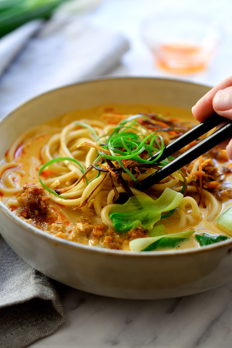 Vegan Ramen With Creamy Sesame Broth Recipe In 2020 Vegan Asian Recipes Vegan Ramen Recipes Vegetarian Ramen