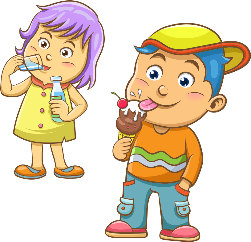 Find Hd Free Banana Split Clipart All American Kids Eating Ice Cream On Transparent Background Download I Eating Ice Cream Children Eating Ice Cream Clipart