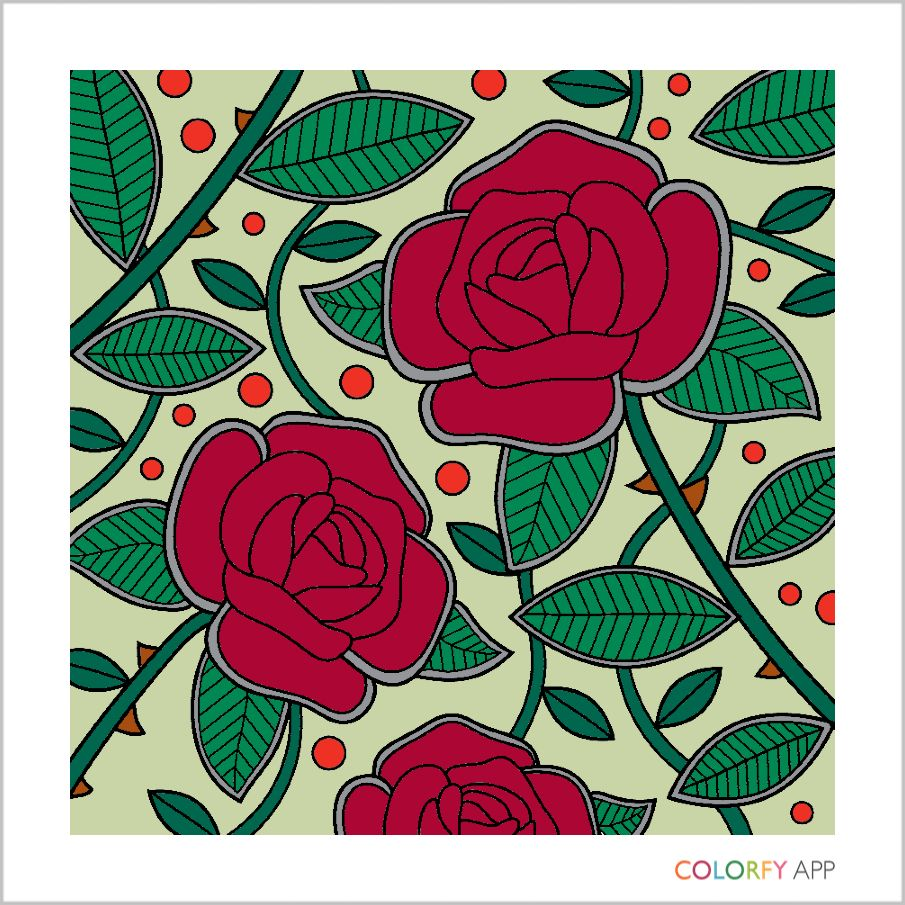 Flowers coloring book beautiful pictures from the garden of nature -  Colorfy Painteditmyself Coloringbook Cute Beautiful Love