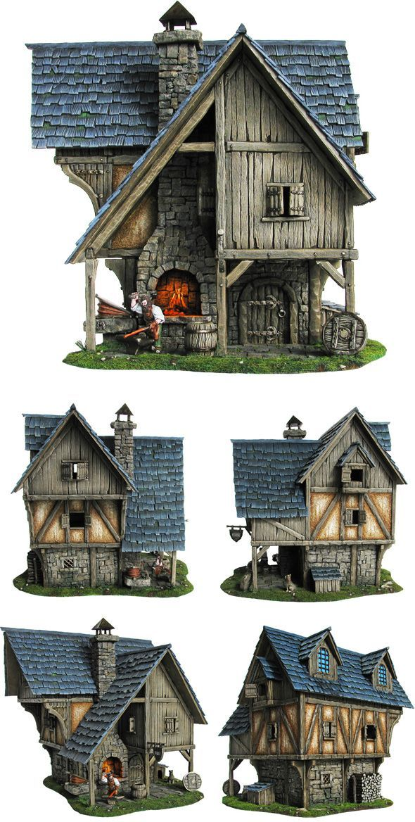 Easy Clay Sculptures image... Fantasy house, Medieval