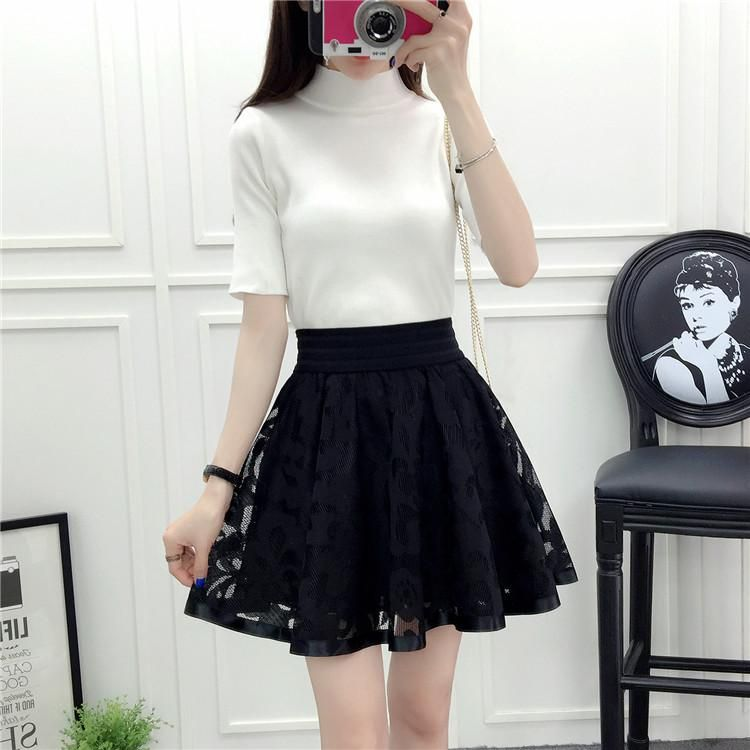 b018722df40fb Black Tulle Pleated Bubble Skirt SP179350 | Skirt Outfits in 2019 ...