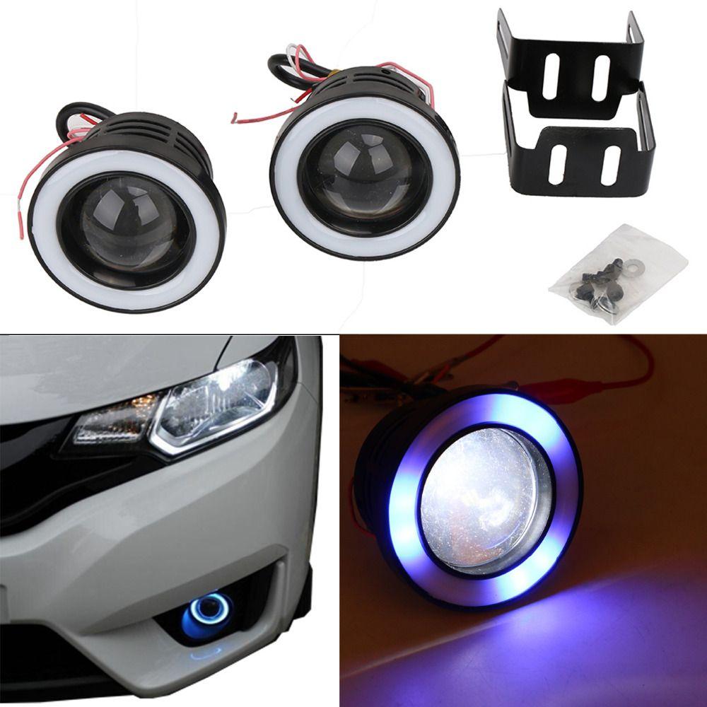 Free Shipping Buy Best 1set Xenon Cob Angel Eye Halo Ring Led Fog Light Drl Rolling Flash Light For Jeep Bmw Audi Vw Wit Car Lights Led Fog Lights Lights
