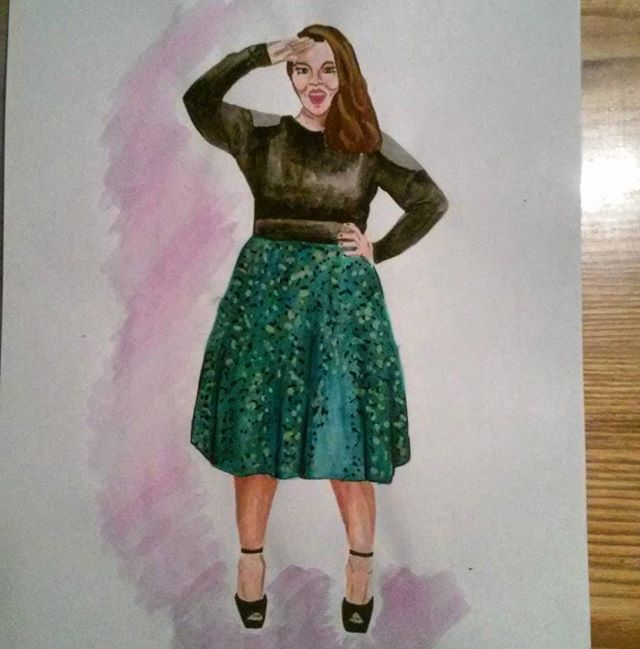 #fromphoto #art #paint #painting #melissamccarthy #best #actress #favourite #woman #illustration #illustrate #fashionillustration #fashion #moda #mode