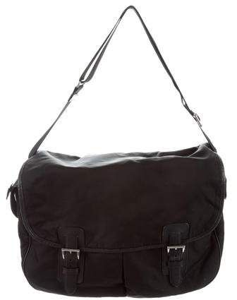 f246c87c Leather-Trimmed Messenger Bag | Products | Bags, Prada messenger bag ...