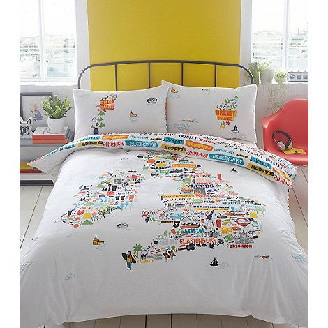 Ben de lisi home white british isles bedding set debenhams new ben de lisi home white british isles bedding set debenhams gumiabroncs Image collections