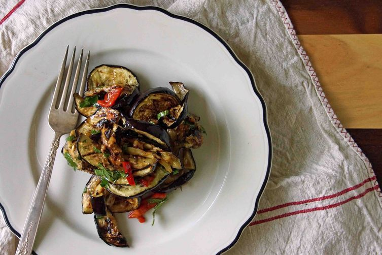 Grilled Eggplant Agrodolce with Mint and Fresno Pepper recipe on Food52