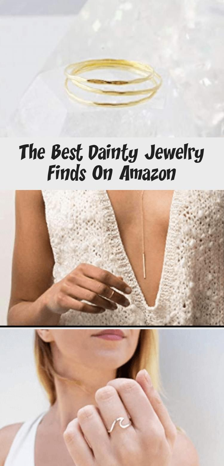 Photo of Amazon's best dainty jewelry right here in one spot. I rounded up 10 of my favor…