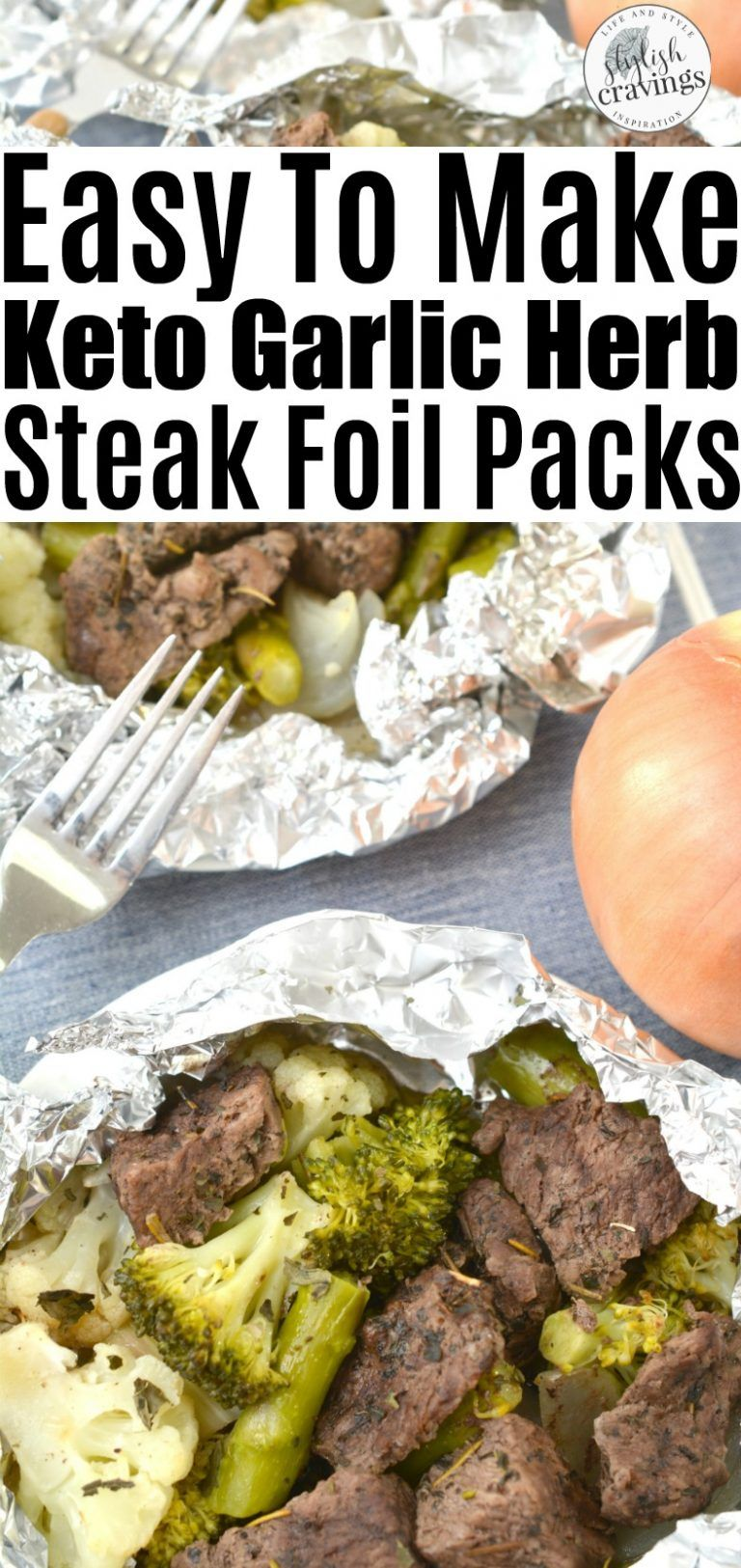 Photo of Easy To Make Keto Garlic Steak Foil Packs #ketorecipes #lowcarbdiet #keto #foilp…