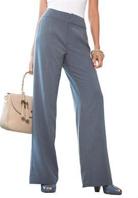 Bi-Stretch Pants | Plus Size Work Pants | Jessica London in dove grey