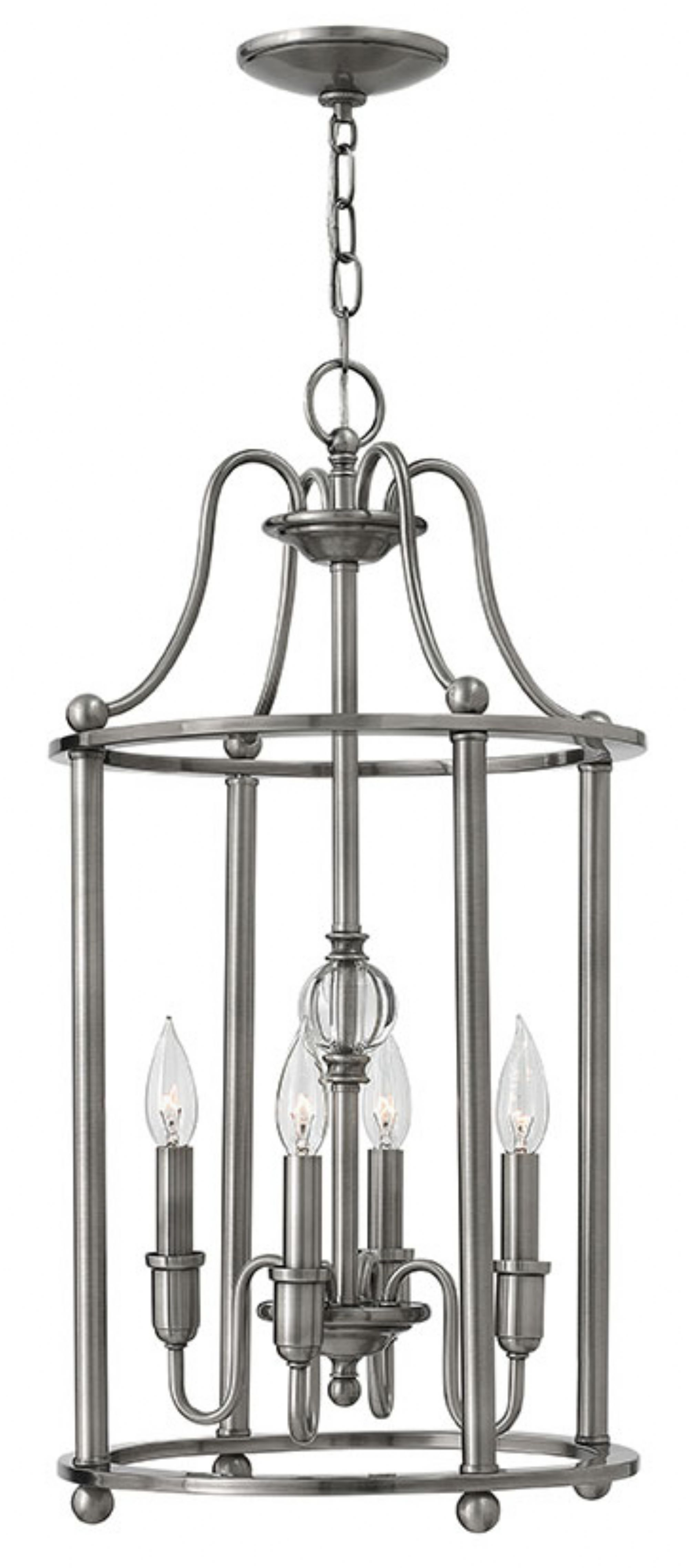 Polished Antique Nickel Elaine Chandeliers