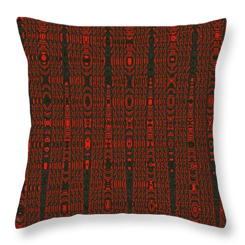 Fabric Design Red And Black Throw Pillow featuring the photograph Fabric Design Red And Black by Tom Janca