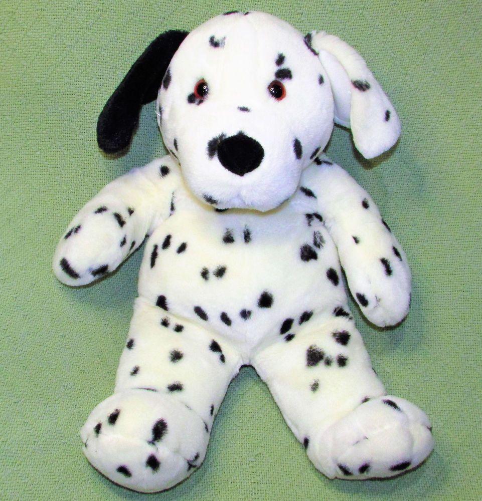 Commonwealth 20 Dalmatian Plush Puppy Dog Stuffed Animal White
