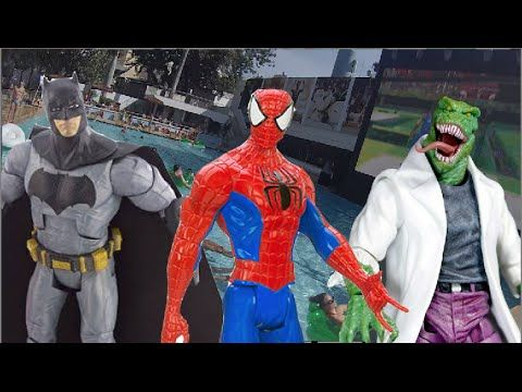 Homem Aranha Spider Man  Batman Lagarto Electro bonecos Piscina Swimming...