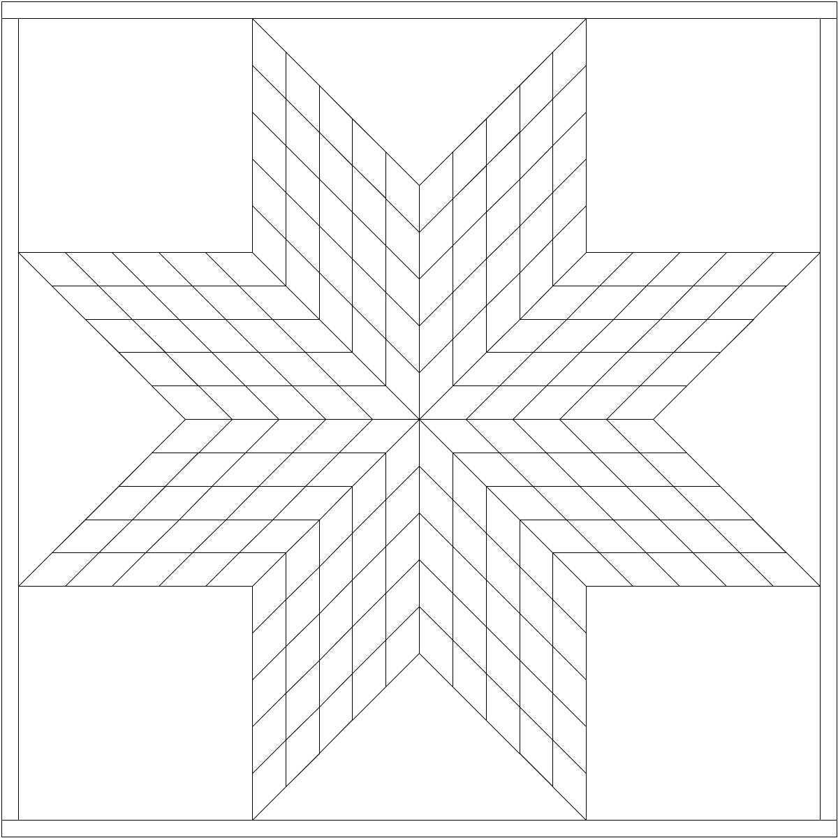Awesome Star Quilt Coloring Pages Design Printable Coloring