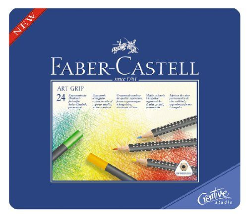 Faber Castell Art Grip Color Pencils Tin Of 24 A W Faber Castell