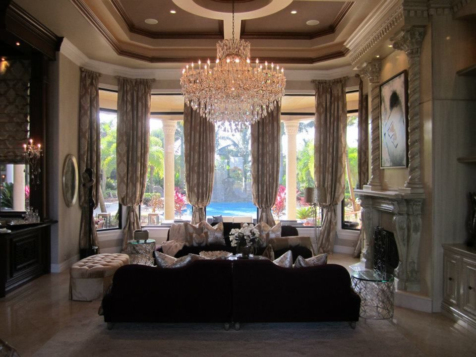 Glamour elegance luxury fine home furnishings custom Custom home interior design