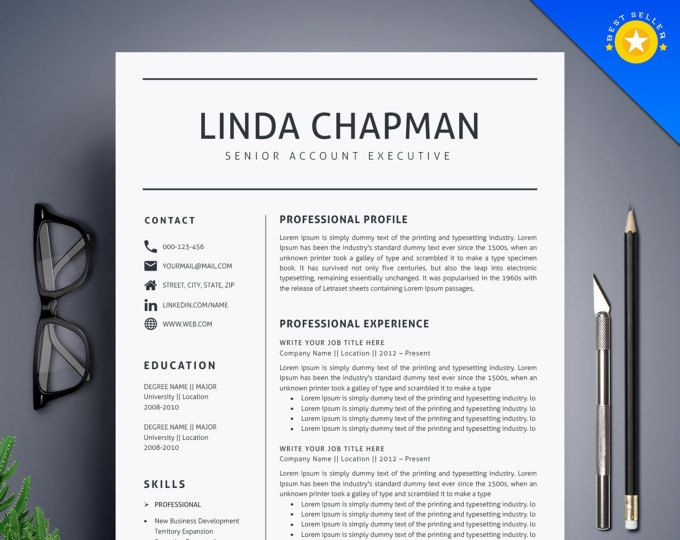 How To Make A Resume On Word 2010 Modern Resume Template 3Pk Cv Template  References Letter .