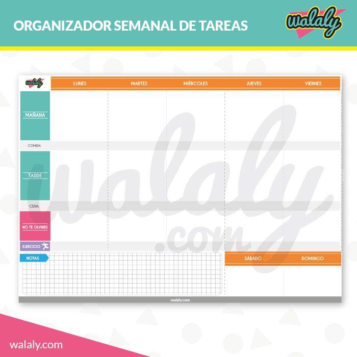 Organizador de tareas semanales para imprimir descarga for Todas las descargas