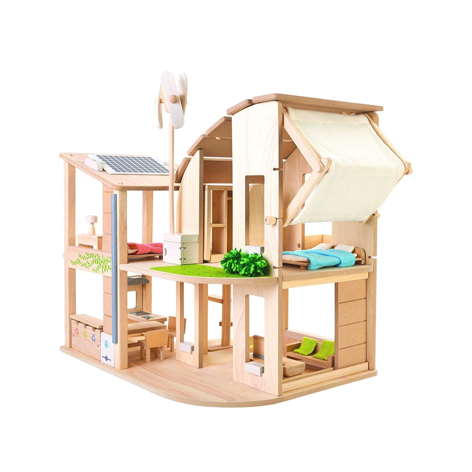 Green Dollhouse w Furniture Products I Love Pinterest