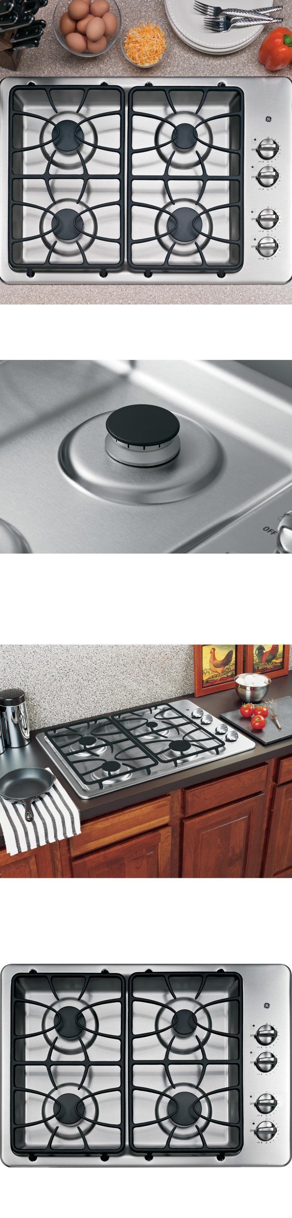 cooktops 71246 ge jgp329setss 30 wide 4 sealed burner gas cooktop
