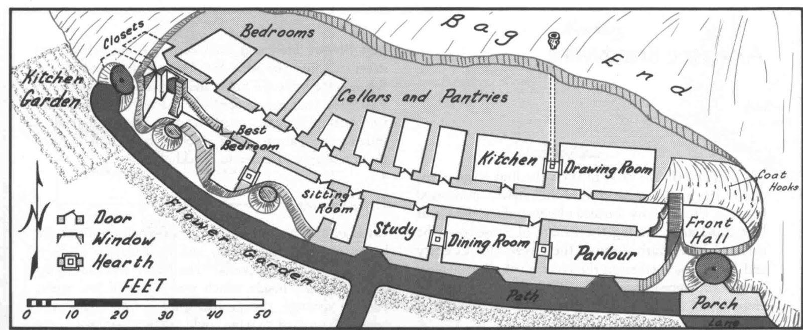 the hobbit movie blog: Bilbo Baggins\' House Plan Linear   Hobbit ...