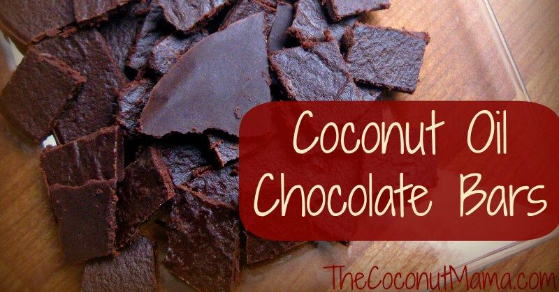 Coconut oil chocolate bars the coconut mama coconut