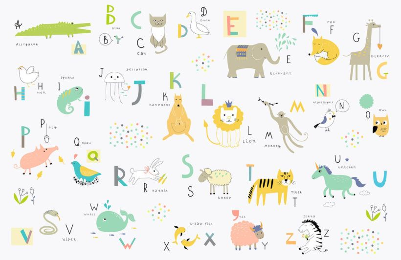 Kids Alphabet Wallpaper Mural Murals Wallpaper Alphabet Wallpaper Kids Wallpaper Alphabet For Kids