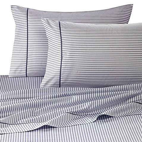 60 Wamsutta Reg 400 Thread Count Stripe Printed King Sheet Set In Blue Jean Wamsutta Designer Bed Sheets Printed Sheets