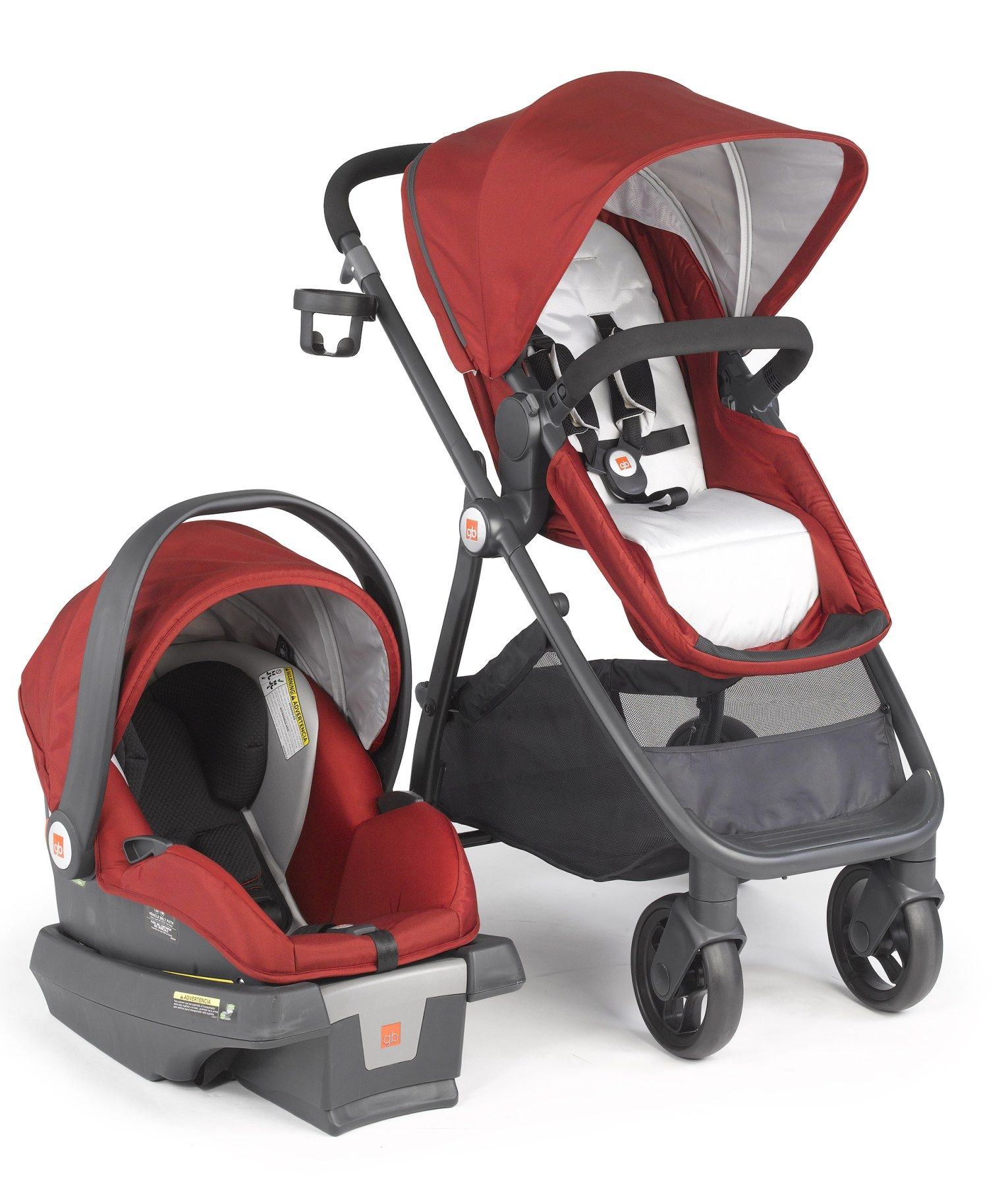 GB Lyfe Travel System Stroller and Car Seat in Merlot