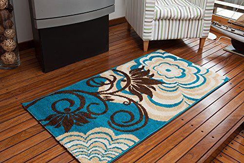 Elegant Modern Super Soft Montego Aqua Blue, Brown & Cream Floral Rug - 3 Sizes Available The Rug House http://www.amazon.com/dp/B00JJODPVE/ref=cm_sw_r_pi_dp_Cf1jub0BZH3HS