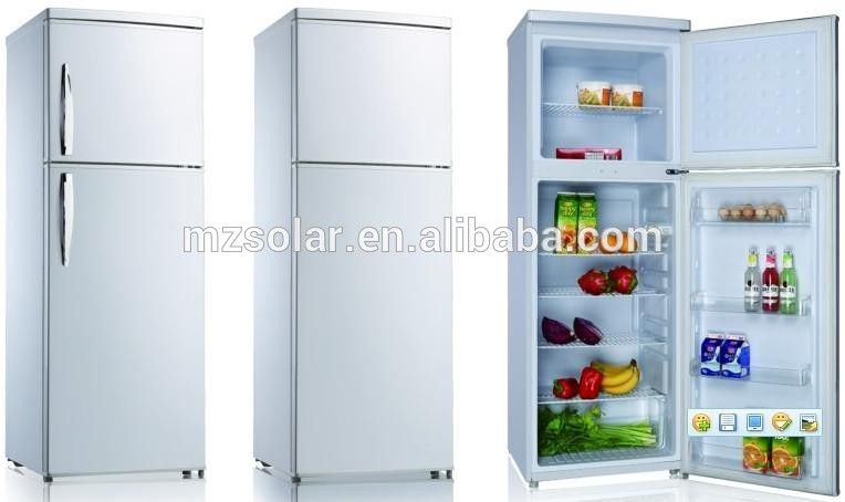 158l 218l Retro Handel And Door Refrigerator 12 Volt Fridge Freezer Refrigerator Bottom Freezer Bottom Freezer Refrigerator