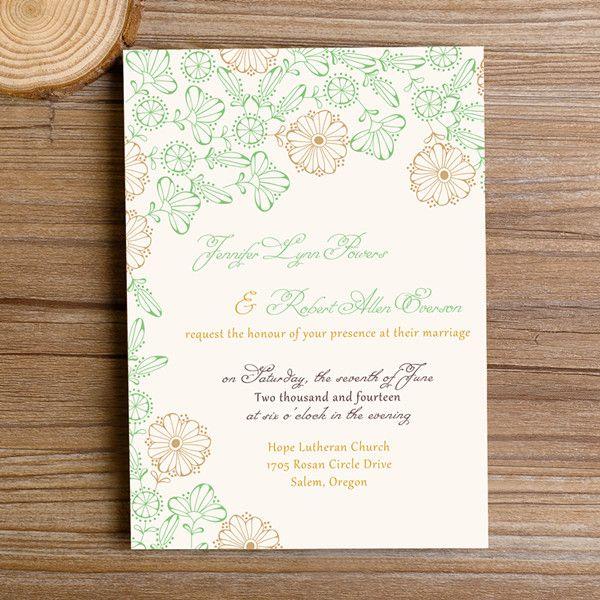 Spring Bohemian Flowers Wedding Invitations Ewi351 Flower Wedding Invitation Bohemian Wedding Flowers Wedding Invitations Online