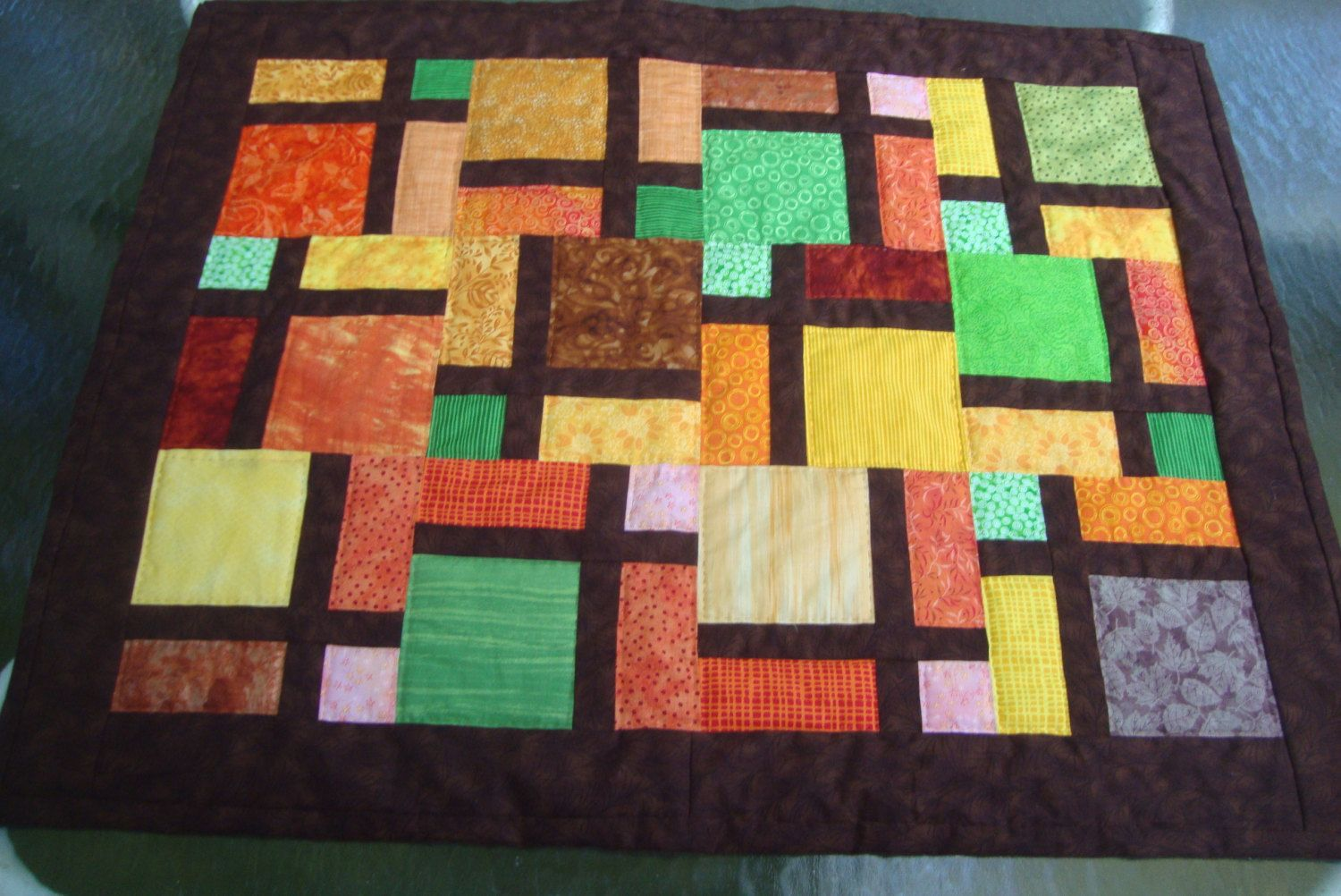 Lap Quilt Table Topper Wall hanging Hand by MaryMackMadeMine