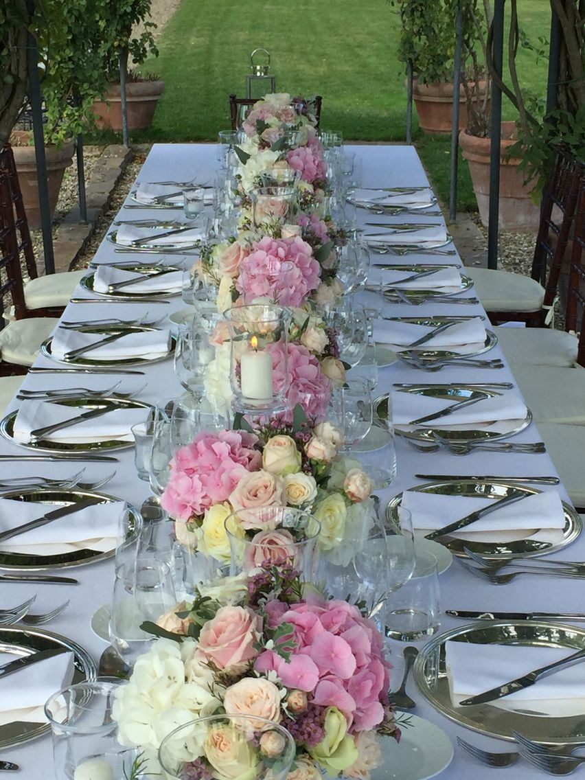 Long Table Dinner Long Table Decorations Wedding Tablescapes Wedding Table