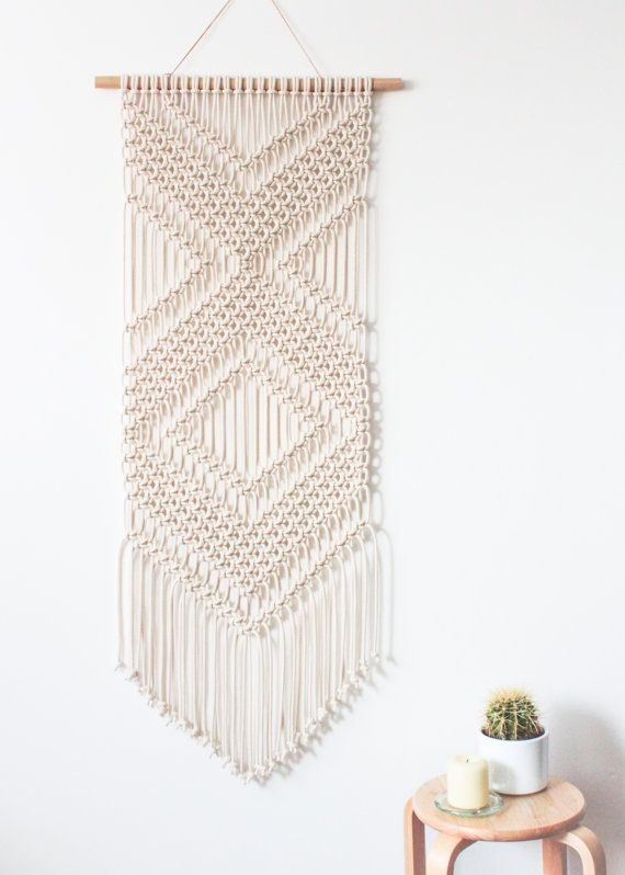 This Macrame Wall Hanging Is Hand Knotted Using 100