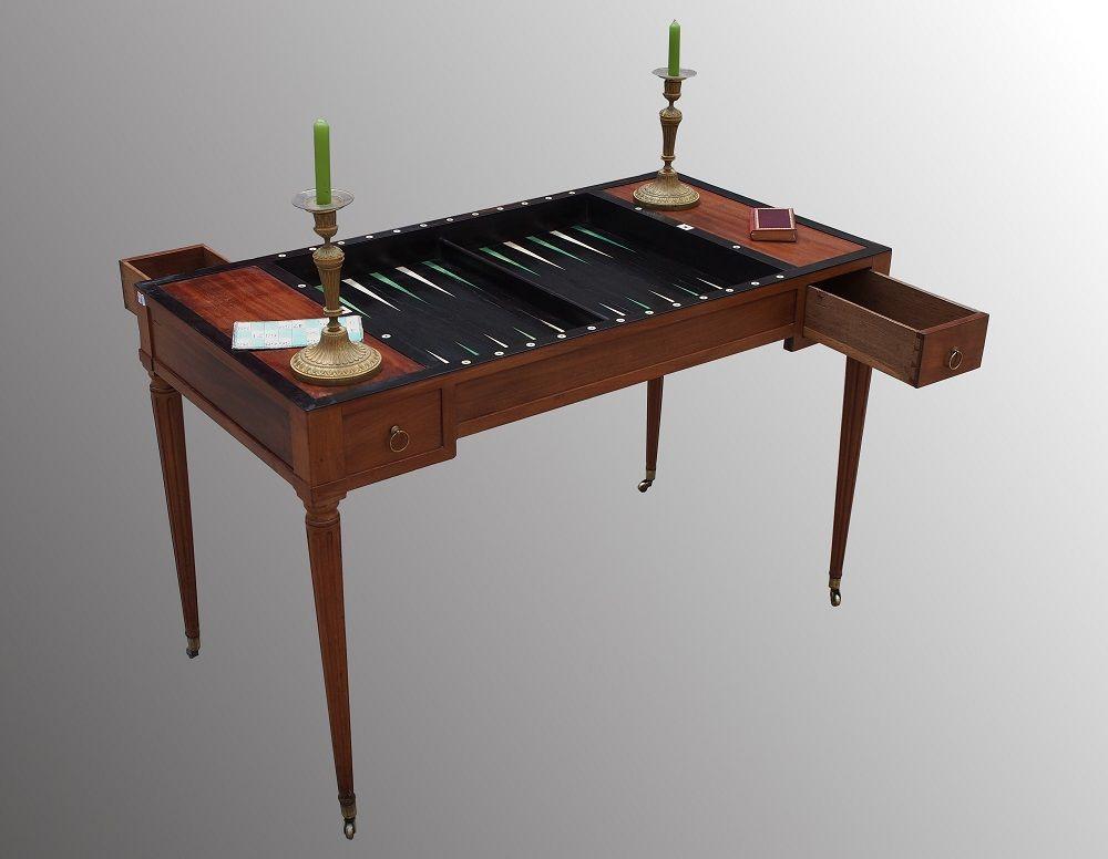Table de jeux tric trac d époque louis xvi secrétaires bureaux