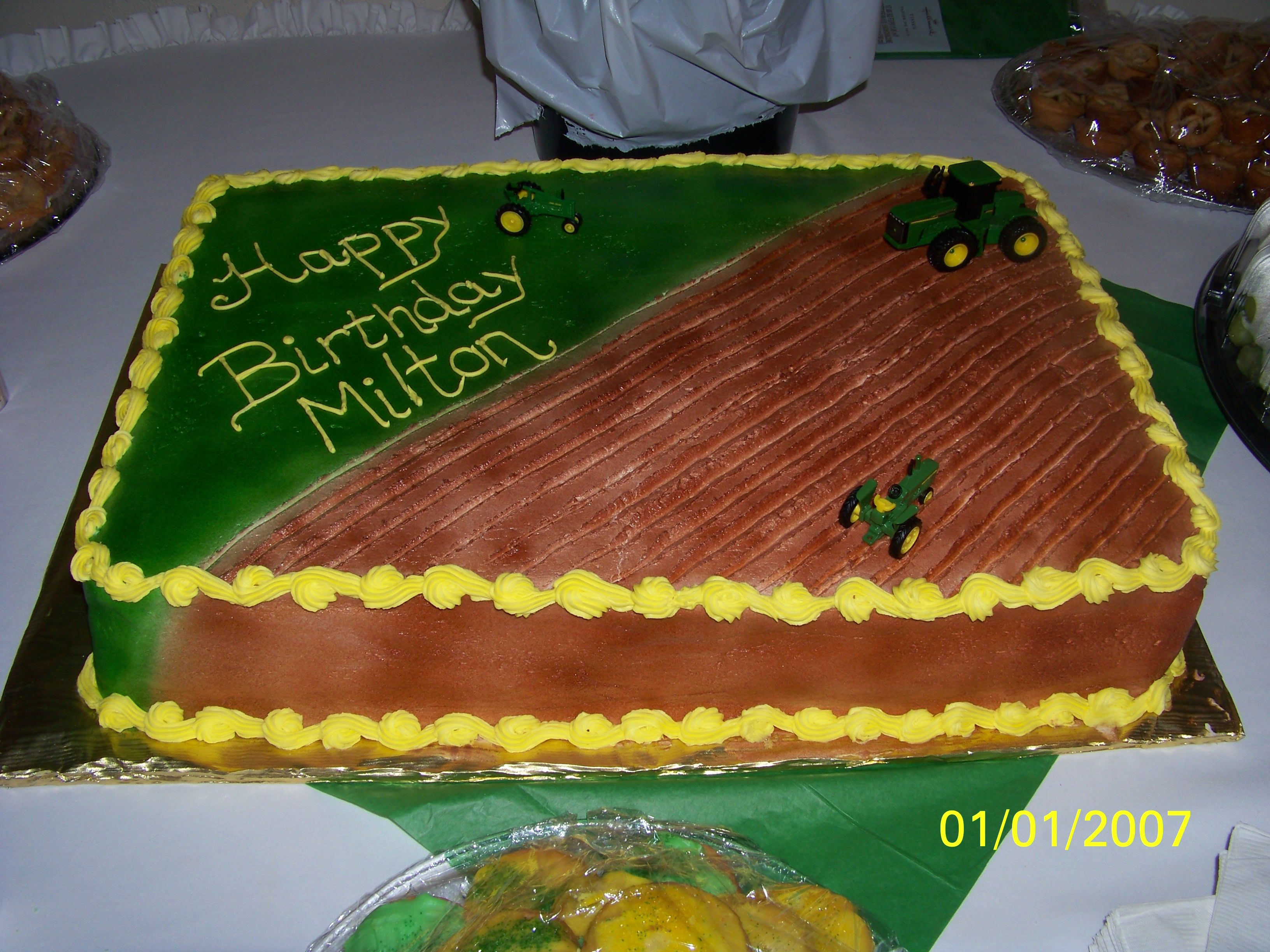 Farm Birthday Cake A Farmer S Birthday Cake Cake Ideas