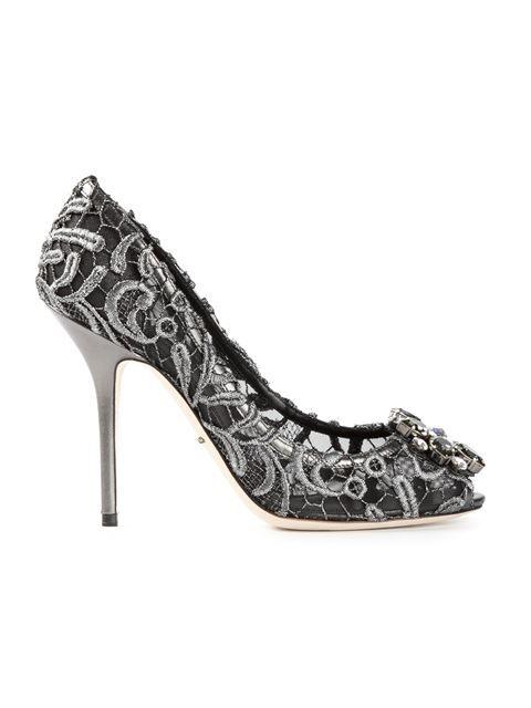 cc5b9af08 Compre Dolce & Gabbana Sapato em renda macramé em Eraldo from the world's  best independent boutiques at farfetch.com. Over 1000 designers from 300  boutiques ...