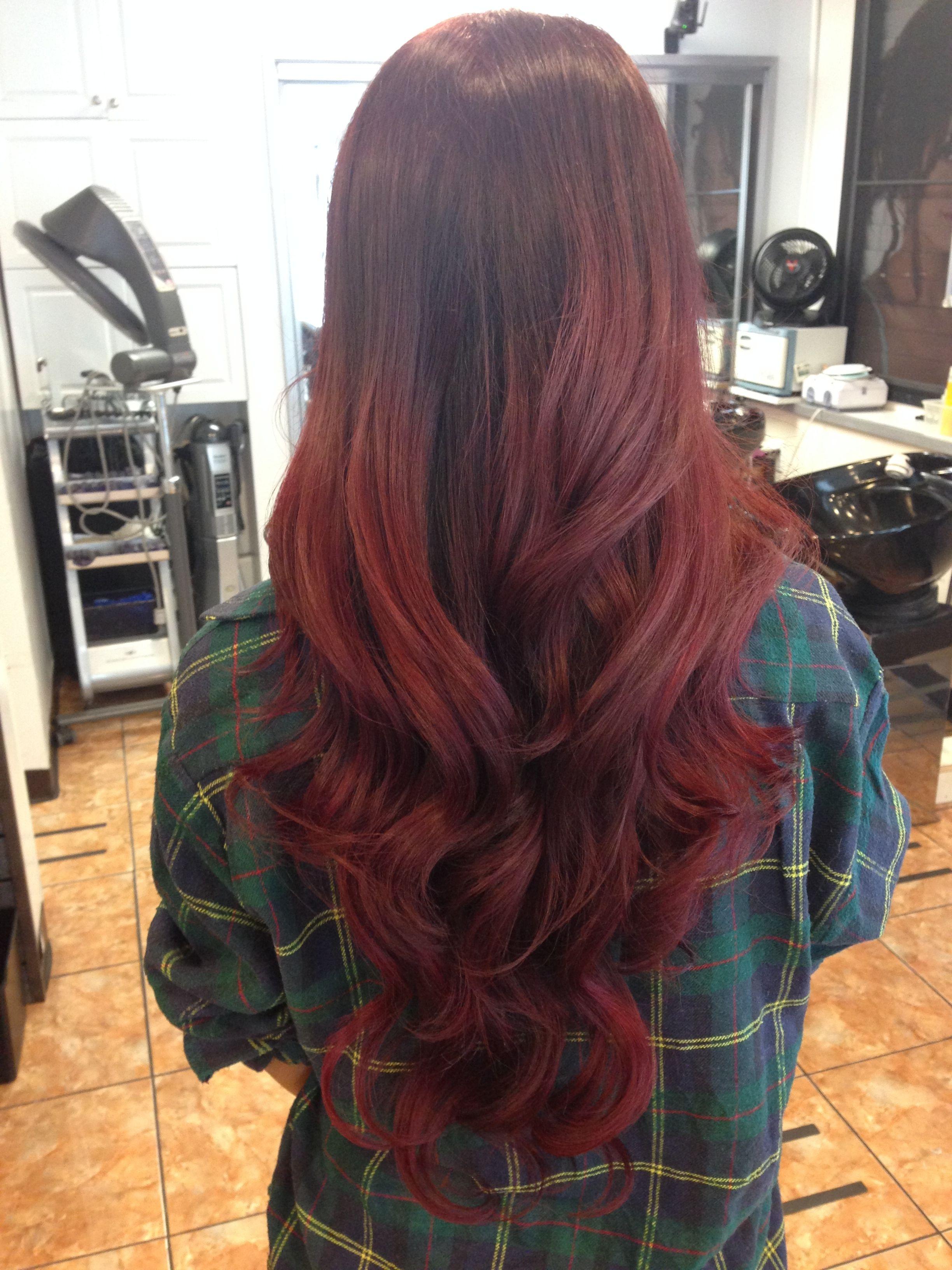 Sabre Salon Honolulu, HI Bright hair, Long hair styles